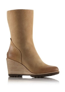 Sorel After Hours Suede Mid Wedge Booties