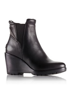 Sorel After Hours Leather Wedge Booties