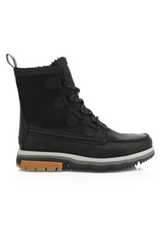 Sorel Caribou Atlis Shearling-Lined Waterproof Leather Boots