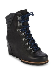 Sorel Conquest Leather Wedge Booties