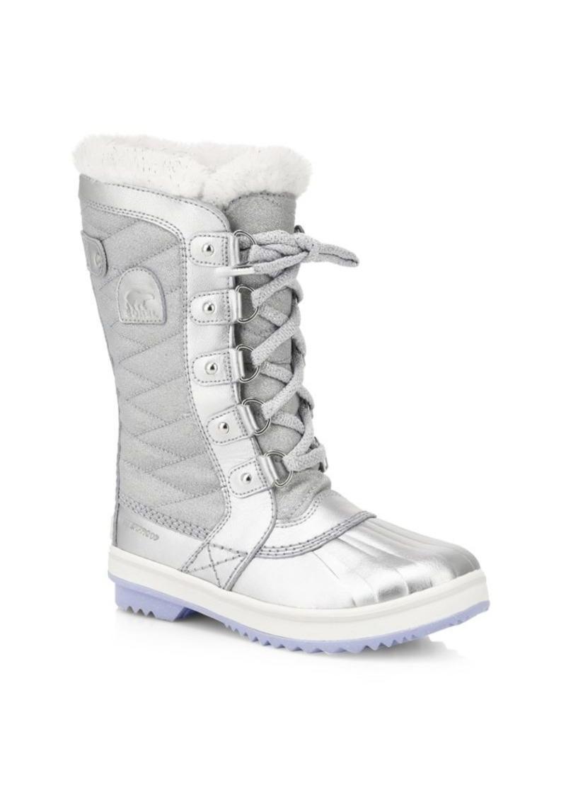 Disney's Frozen 2 x Sorel Girl's Tofino Faux Fur-Lined Snow Boots