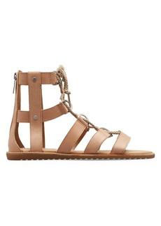 Sorel Ella Lace-Up Leather Gladiator Sandals