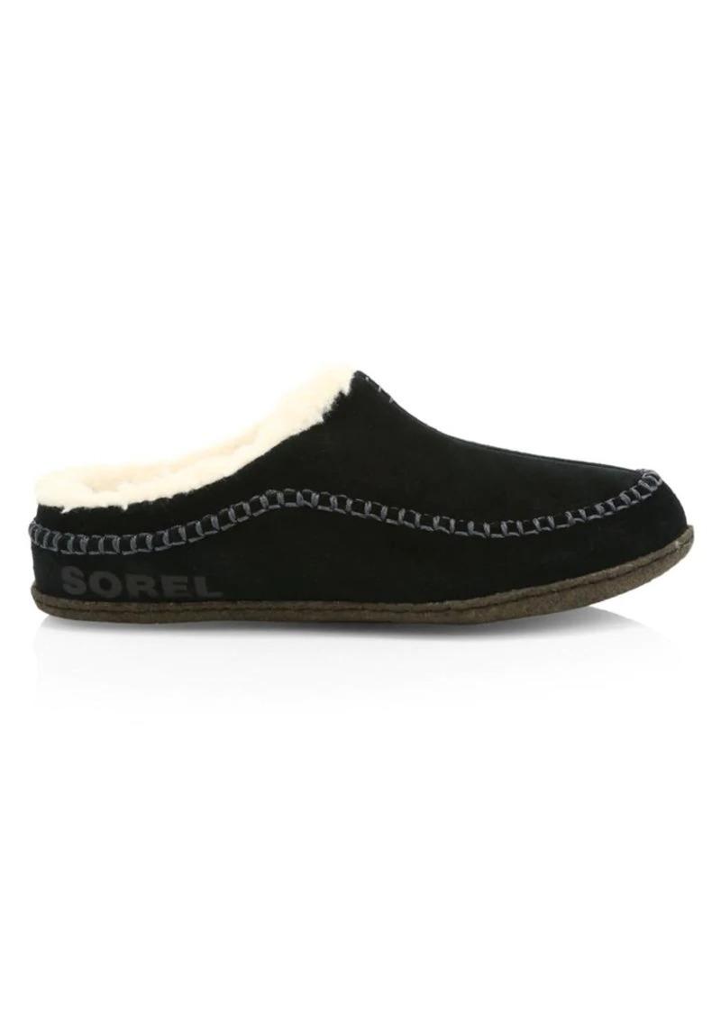 Sorel Falcon Ridge II Faux Fur-Lined Suede Slipper Shoes