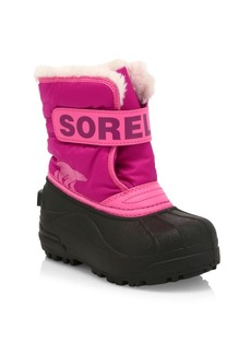Sorel GIrl's Snow Commander Waterproof Faux Shearling-Lined Boots