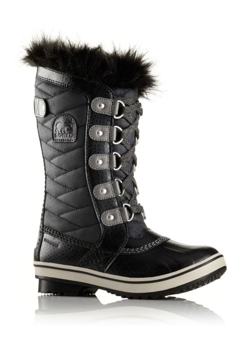 Sorel Girl's Tofino II Faux Fur-Cuff Quilted Snow Boots