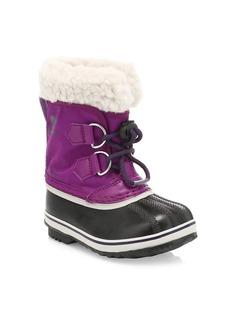 Sorel Girl's Yoot Pac Waterproof Faux Shearling-Trim Boots