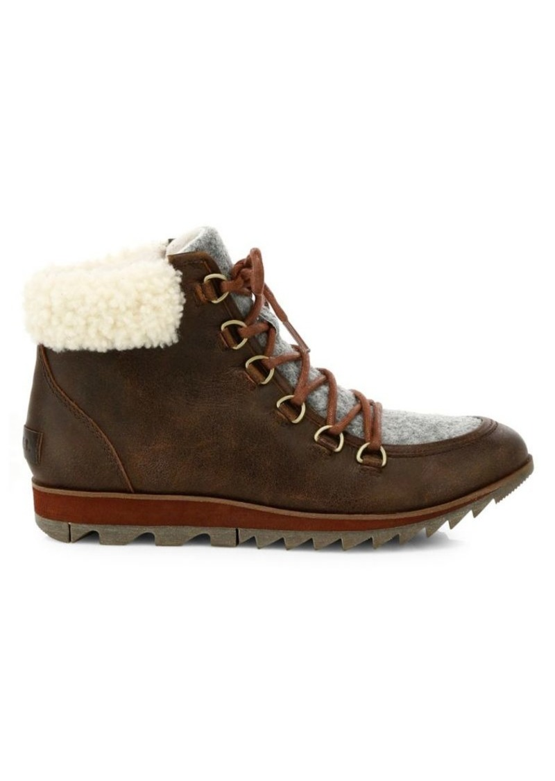 Sorel Harlow Shearling Waterproof Hiker Boots