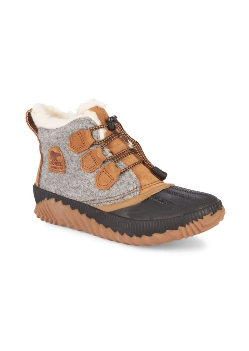 Sorel Kid's Faux Shearling-Lined Waterproof Mix Media Leather Winter Boots