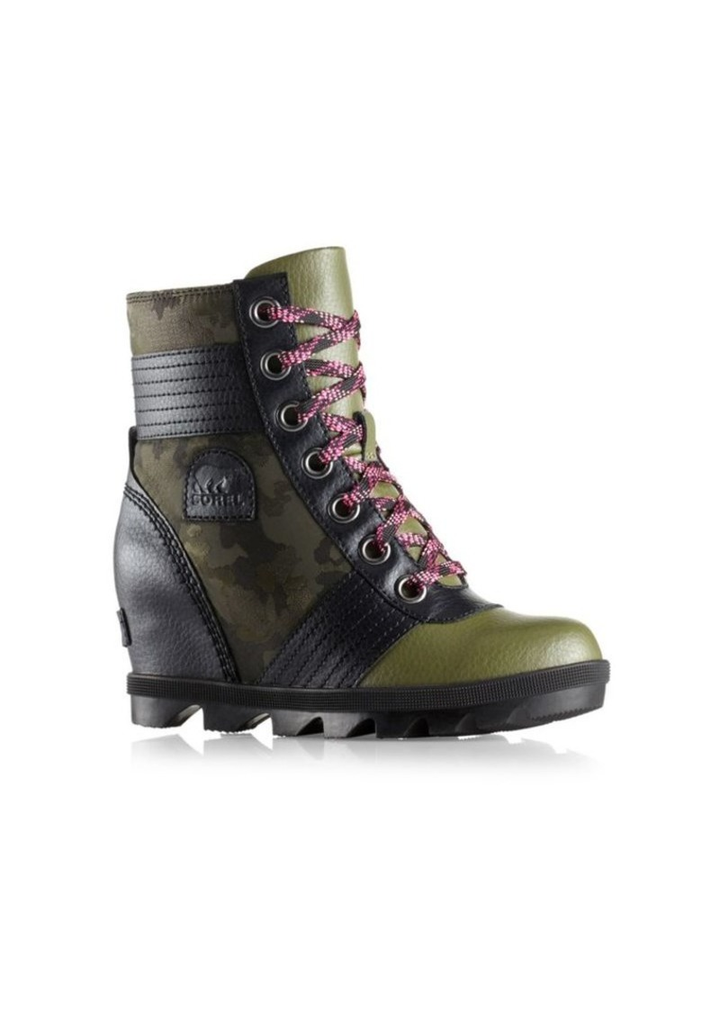 df619b26c8c Sorel Kid s Lexie Wedge Camo Boots