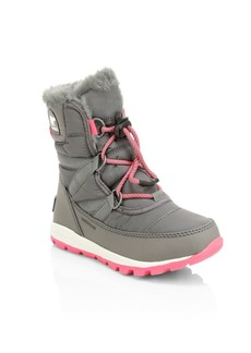 Sorel Kid's Whitney Waterproof Faux Fur Lace-Up Boots