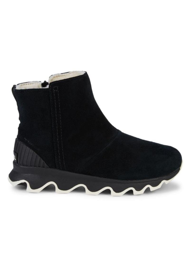 Sorel Kinetic Faux Fur-Lined Suede Sneaker Boots