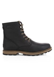 Sorel Madison Grain Leather Waterproof Combat Boots