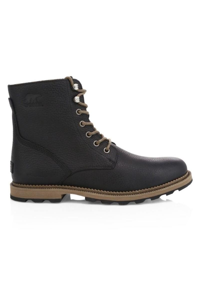Sorel Men's Madson Grain Leather Waterproof Combat Boots