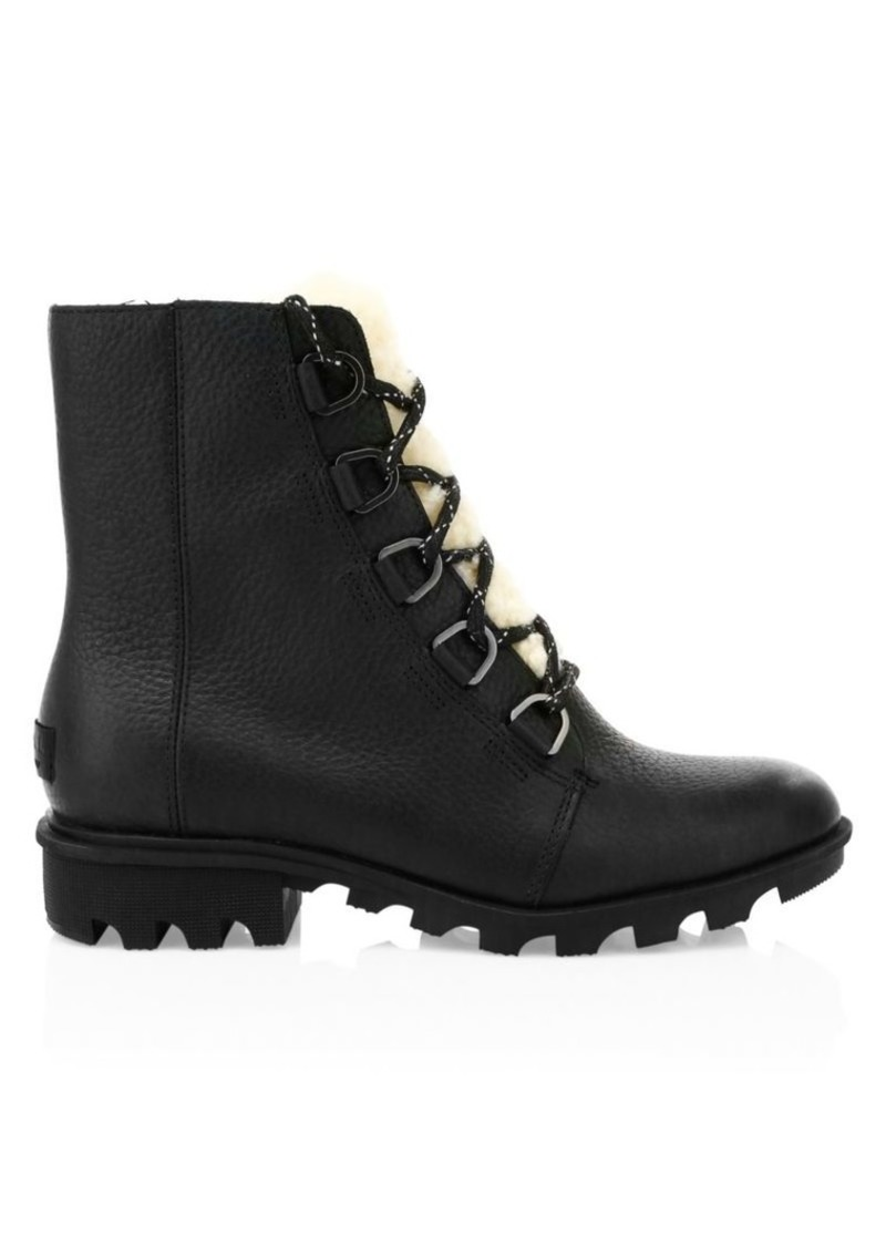 Sorel Phoenix Shearling-Lined Leather Hiking Boots
