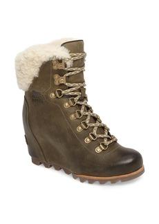 SOREL Conquest Genuine Shearling Cuff Waterproof Boot (Women)