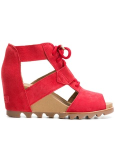 Sorel cut out wedge sandals - Red