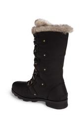 94b1a3f7f958a8 Sorel SOREL Emelie Waterproof Lace Up Boot with Faux Fur Trim (Women ...