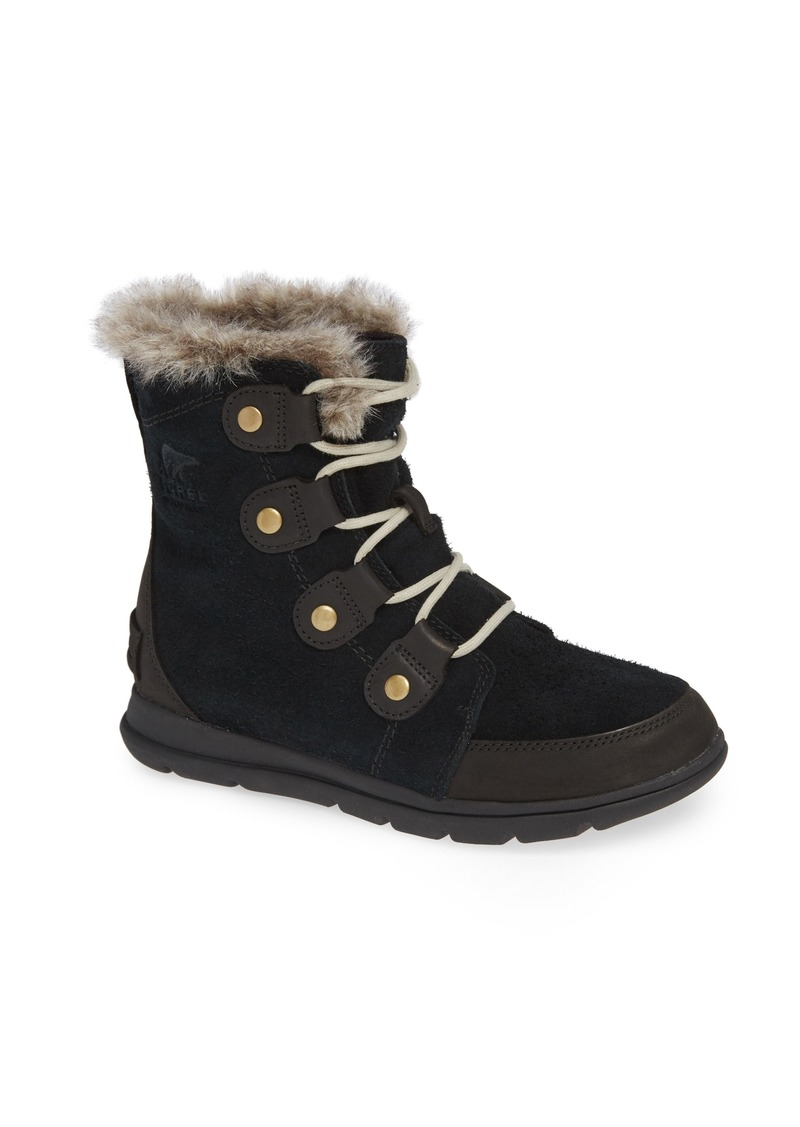 SOREL Explorer Joan Waterproof Boot with Faux Fur Collar (Women)
