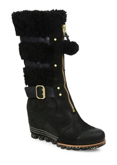 Sorel Helen Waterproof Suede Wedge Boots