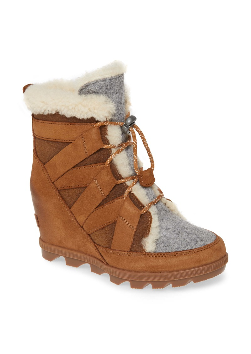SOREL Joan of Arctic II Cozy Genuine Shearling Wedge Bootie (Women)