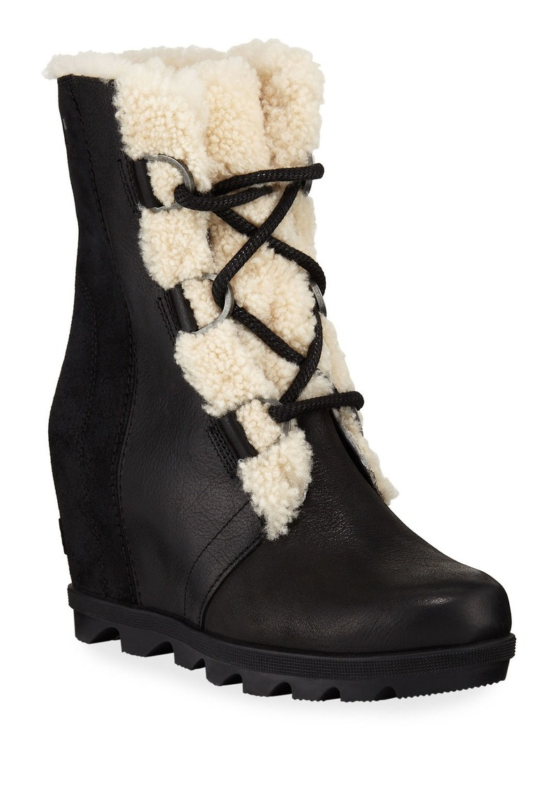 Sorel Joan of Arctic Wedge II Waterproof Boots with Shearling Fur