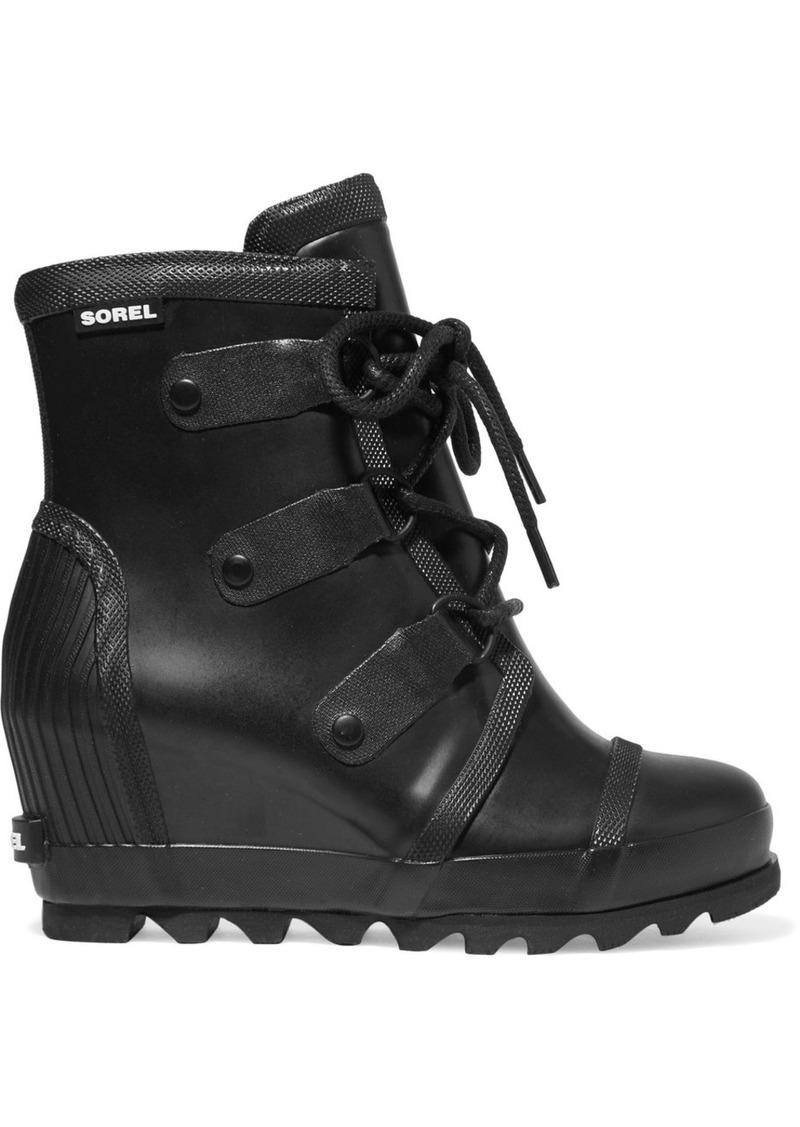 dd142a37fb99 Sorel Sorel Joan Rain waterproof rubber wedge boots