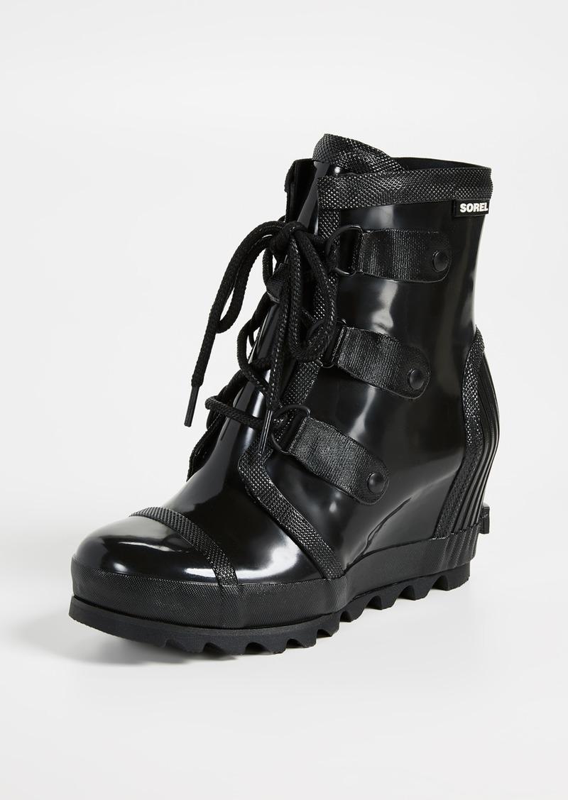 Sorel Joan Rain Wedge Gloss Boots