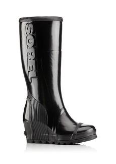 Sorel Joan Rain Wedge Tall Gloss Rain Boots
