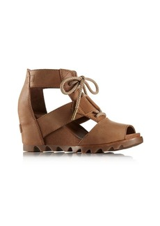 Sorel Joanie Lace Leather Wedge Sandals