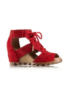 Sorel Joanie Lace Suede Wedge Sandals