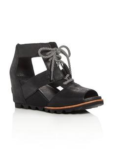 Sorel Women's Joanie Leather Platform Wedge Sandals