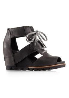 Sorel Joanie Leather Sandal Wedges