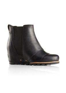 Sorel Lea Wedge Waterproof Leather Booties