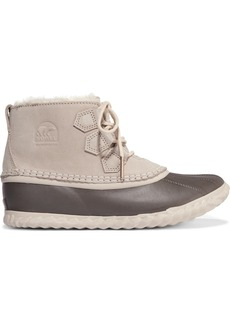 Sorel Out'N About waterproof nubuck and shearling boots