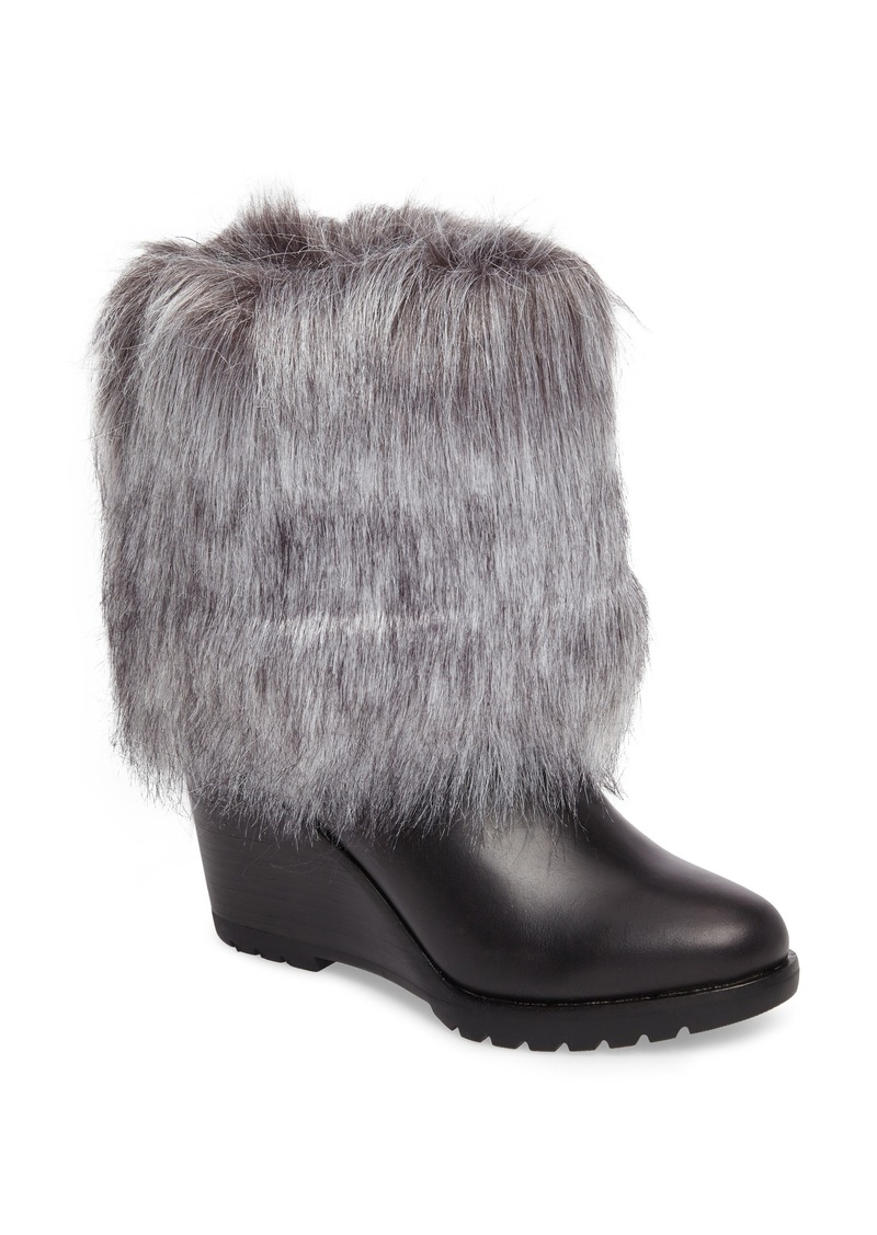 sorel Women's Park City Faux Fur Wedge Bootie RNXXKeWdNA
