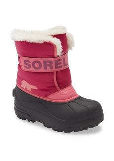 SOREL Snow Commander Insulated Waterproof Boot (Toddler & Little Kid)