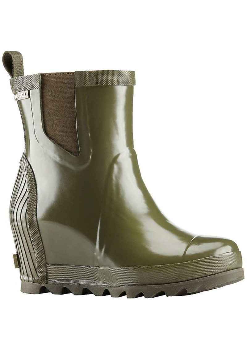 Sorel Women's Joan Rain Wedge Chelsea Gloss Boot