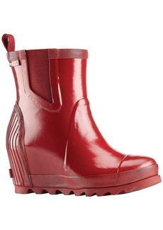 Sorel Women's Joan Rain Wedge Chelsea Gloss Boot