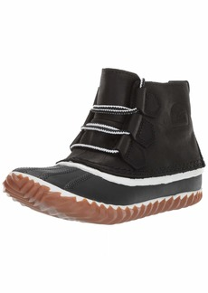 Sorel Women's Out N about Leather Snow Boot Black