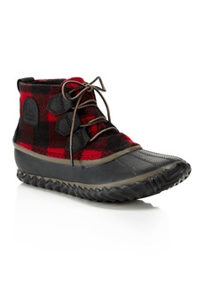 Sorel Women's Out N About Plaid Lace Up Rain Booties