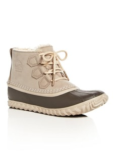 Sorel Women's Out 'n About Waterproof Nubuck Leather & Shearling Cold Weather Booties