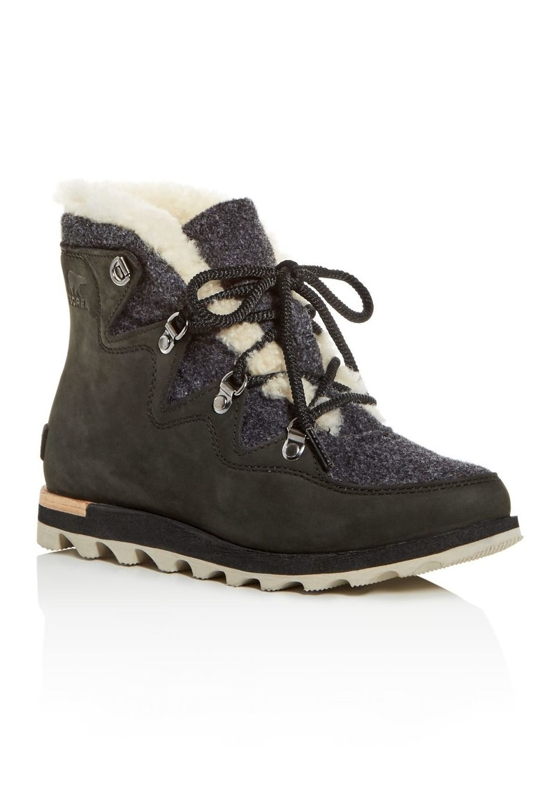 Sorel Women's Sneakchic Alpine Holiday Shearling Waterproof Cold-Weather Boots