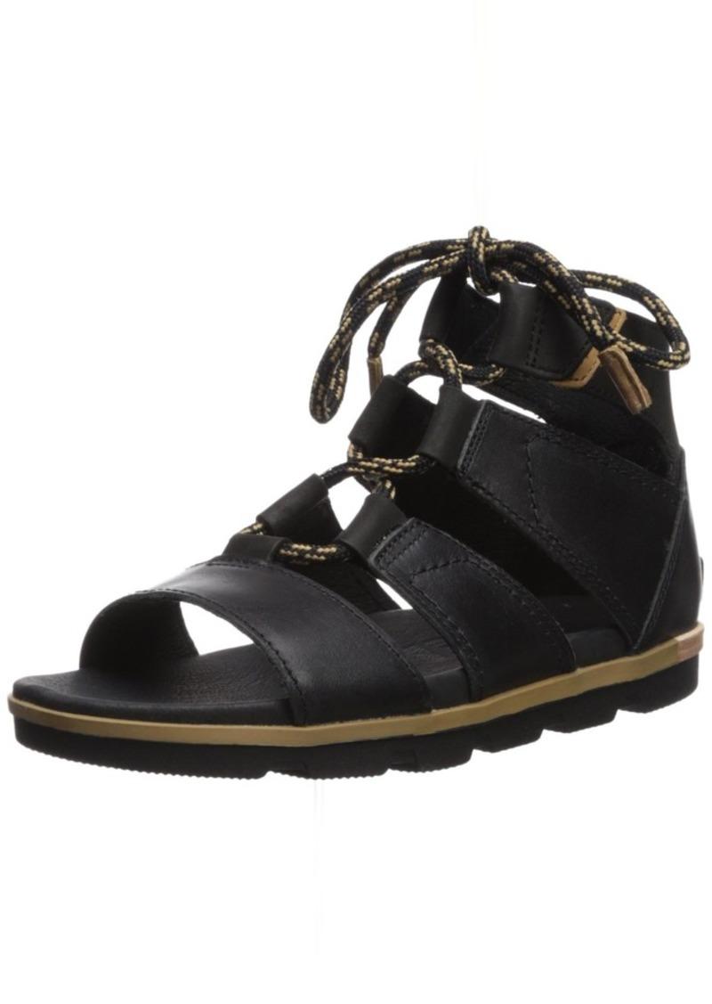Sorel Women's TORPEDA LACE II Flat Sandal   Medium US