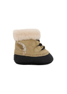 Sorel Suede & Faux Shearling Boots