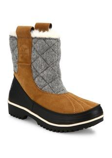 Sorel Tivoli Suede & Fur Pull-On Boots