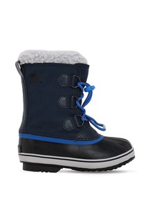 Sorel Waterproof Nylon Canvas Boots