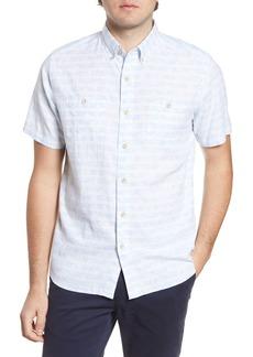 Southern Tide Dock Palm Regular Fit Button-Up Shirt