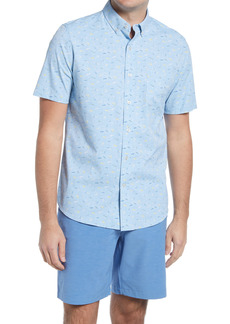 Men's Southern Tide Lure Short Sleeve Stretch Button-Down Performance Shirt
