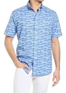 Men's Southern Tide Swordfish Short Sleeve Button-Down Shirt