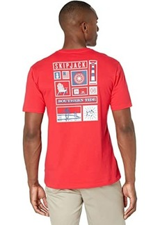 Southern Tide Southern Stamp Collection T-Shirt